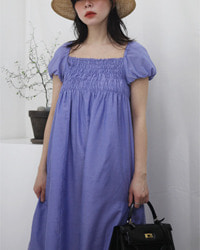 (adieu tristesse)cotton silk dress