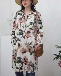 (zara)flower tunic dress