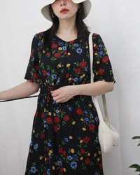 (ehko sopo)flower chiffon dress