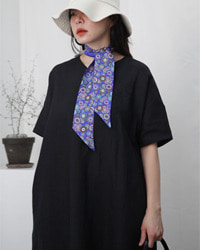(s.t closet frabjous)black linen dress
