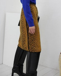 (GK)leopard knit skirt
