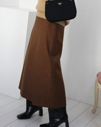 wool long skirt